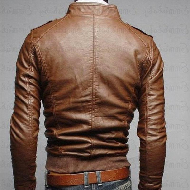 <font><b>Mens</b></font> Leather <font><b>Jackets</b></font> <font><b>Jacket</b></font> Quality Classic Motorcycle Male Plus Thick Coats M-3XL