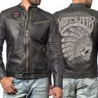 Affliction Full Measure Indian Skull Motorcycle Men Leather