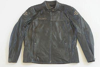 Harley Distressed Charcoal Leather 98108-16VM