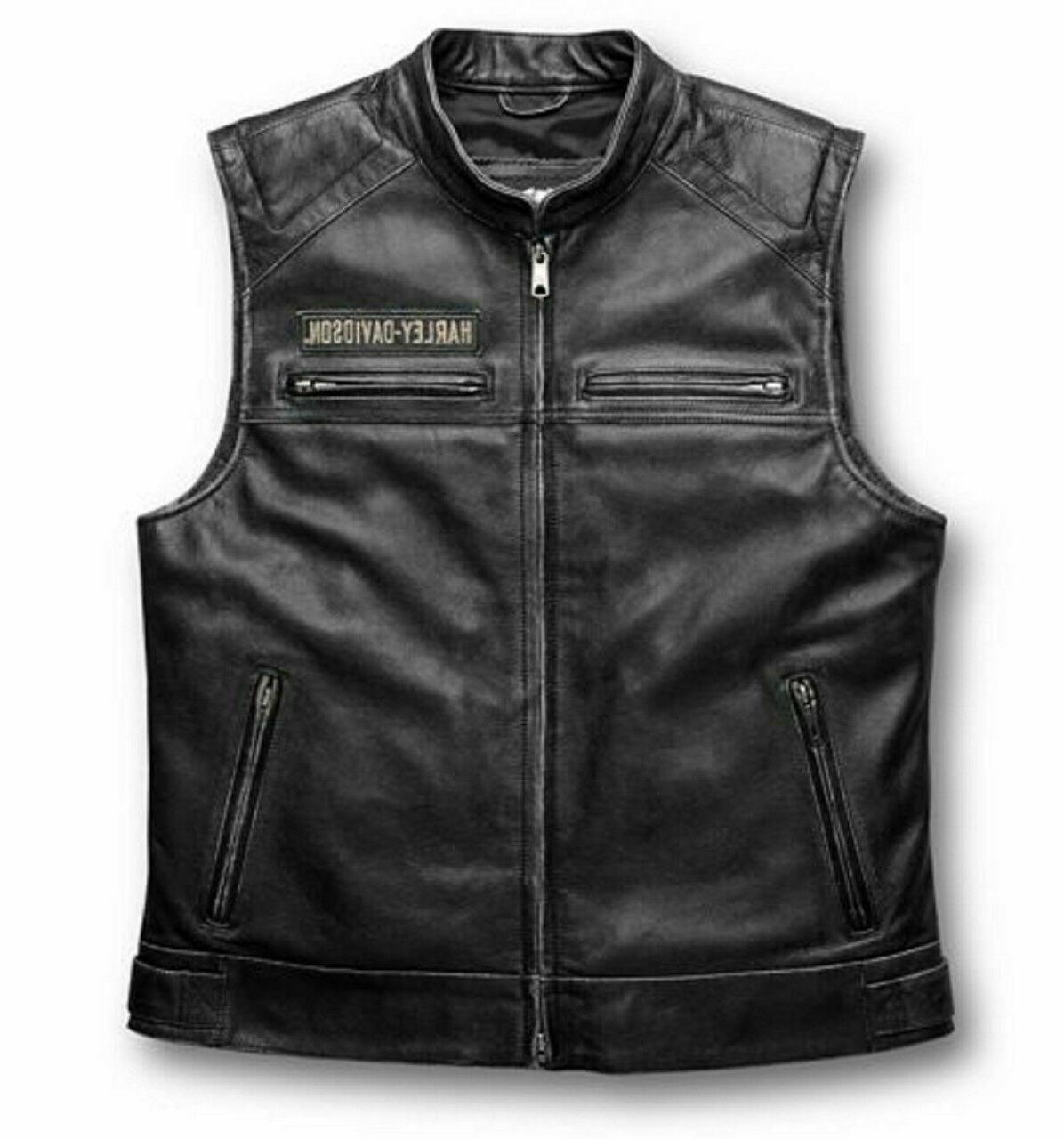 harley davidson men s genuine cow leather