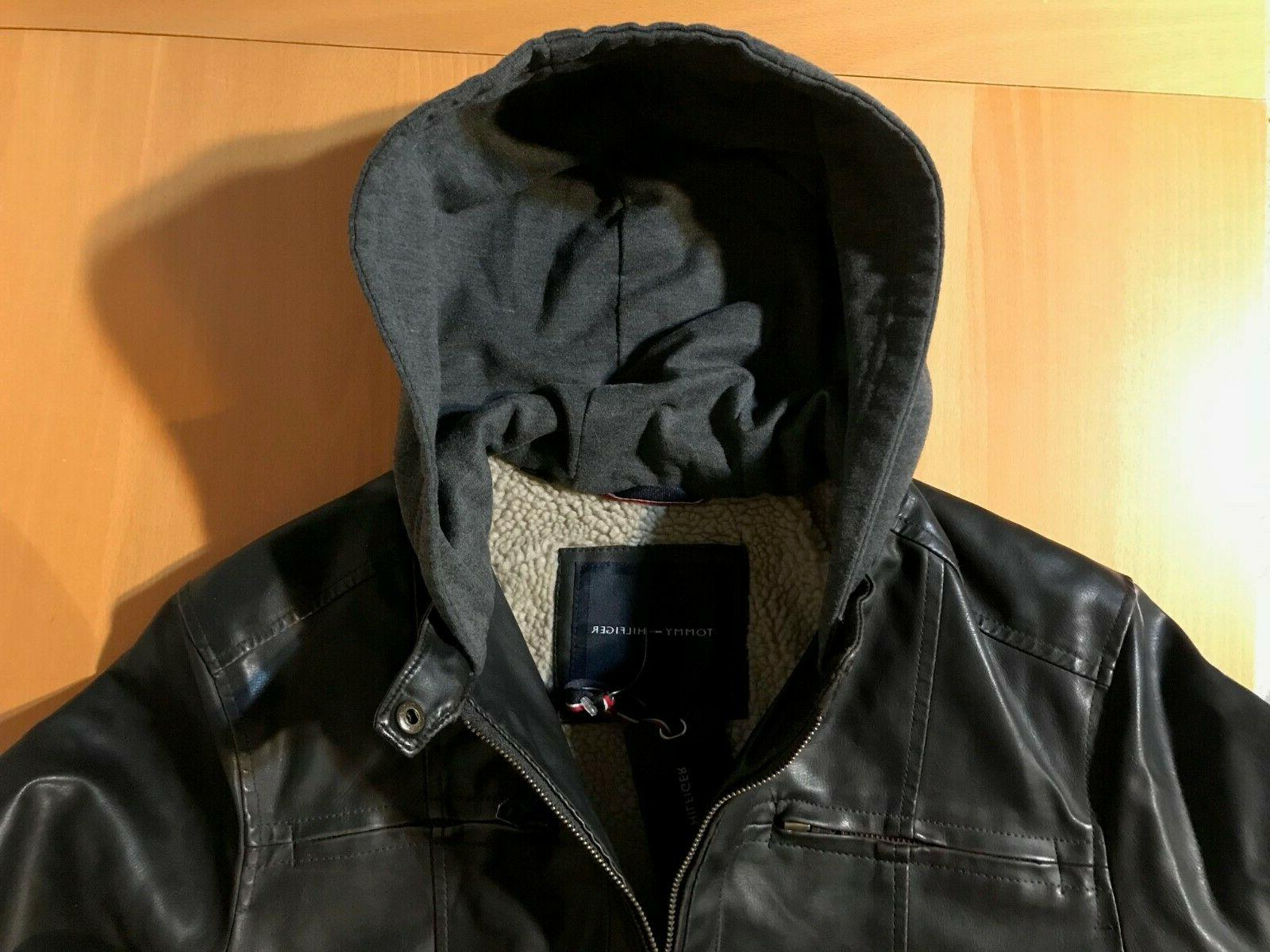 Tommy Hooded / Faux Jacket $225.00