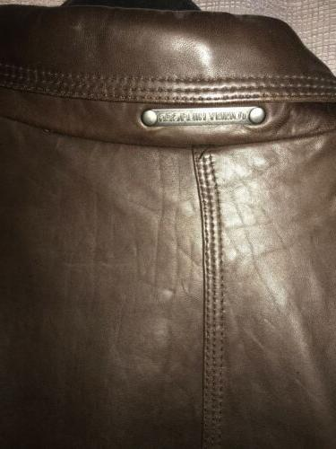 tommy hilfiger leather Xl A Large