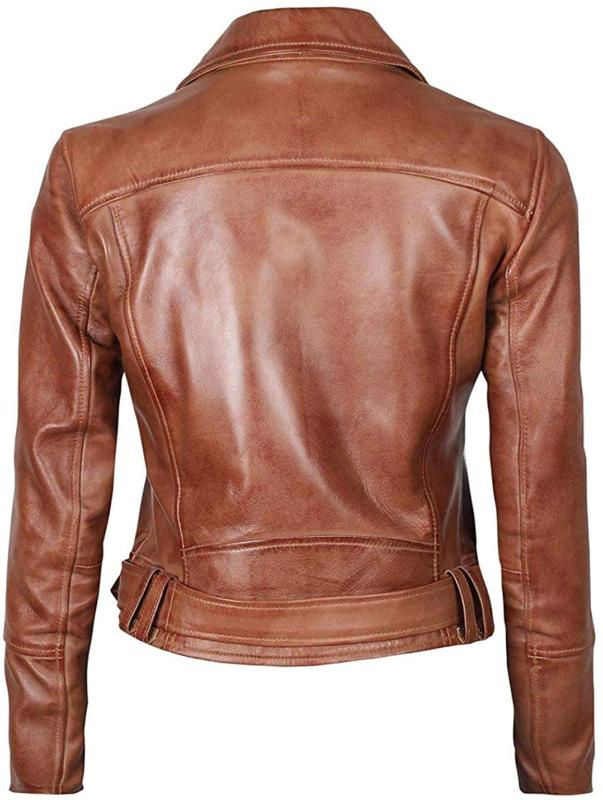 Women Motorcycle Leather Jac
