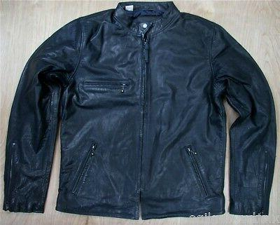 Levis Leather Moto Jacket Nightwatch Blue Levis Retro Styled