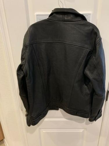 Levi's Leather Trucker Jacket - With Tags