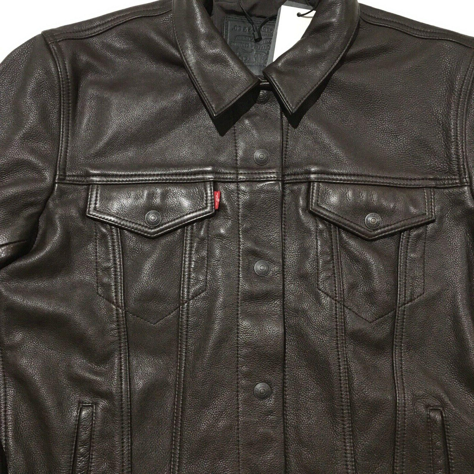 Levi's Leather Trucker - Brown