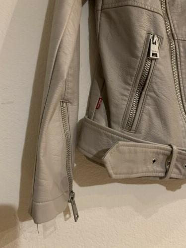 Levi's Women Oversized Leather Belted Size Small