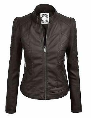 ll womens quilted biker jacket
