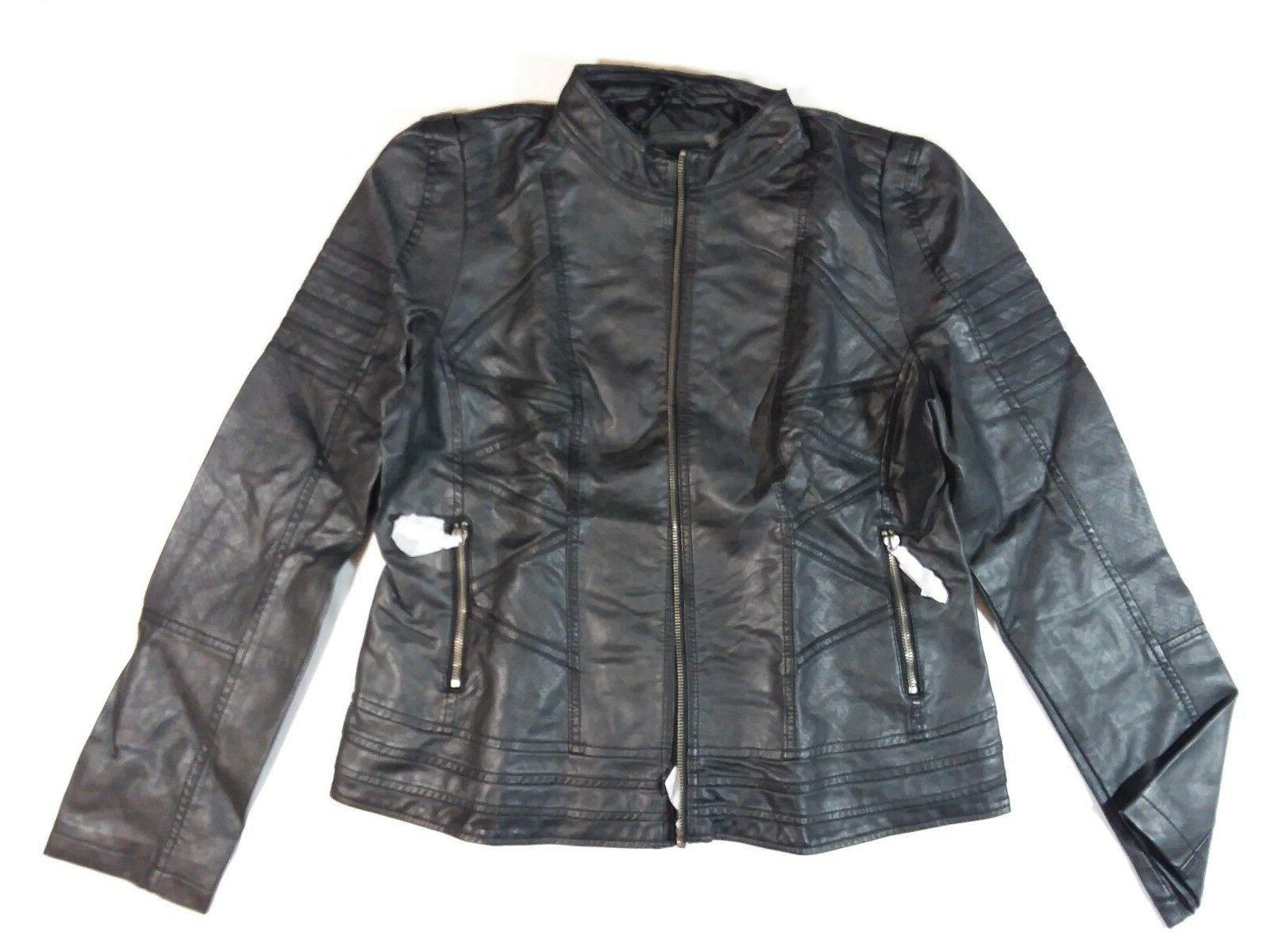 Lock and Womens Quilted Biker Jacket WJC746