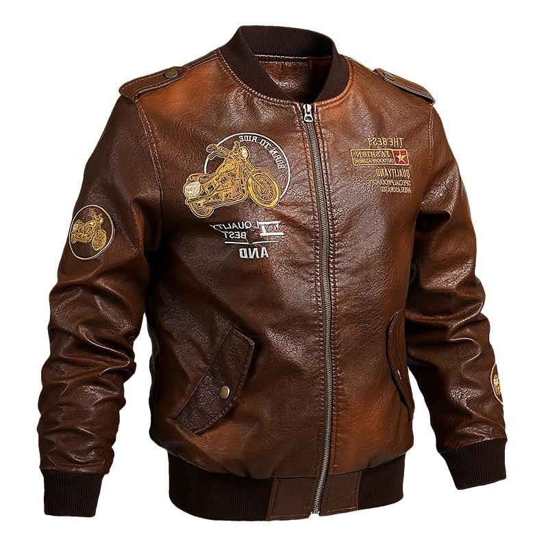 Male <font><b>Jacket</b></font> Fit Biker Motorcycle Faux Fur <font><b>Jacket</b></font> Fleece