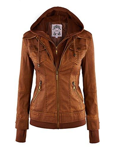 mbj wjc664 faux leather jacket