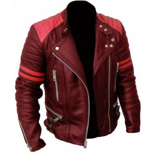 Men Motorcycle Jacket Fashion Patchwork