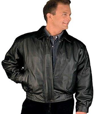 men s american style bomber genuine leather