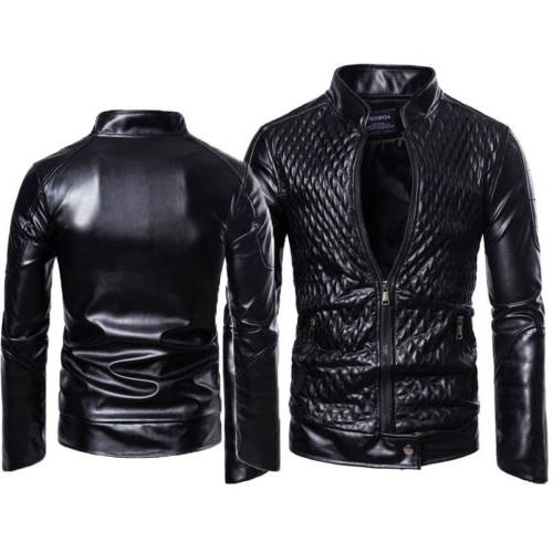 Slim Fit Motorcycle Zipper Casual Coat