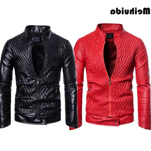Men's Leather Zipper Casual