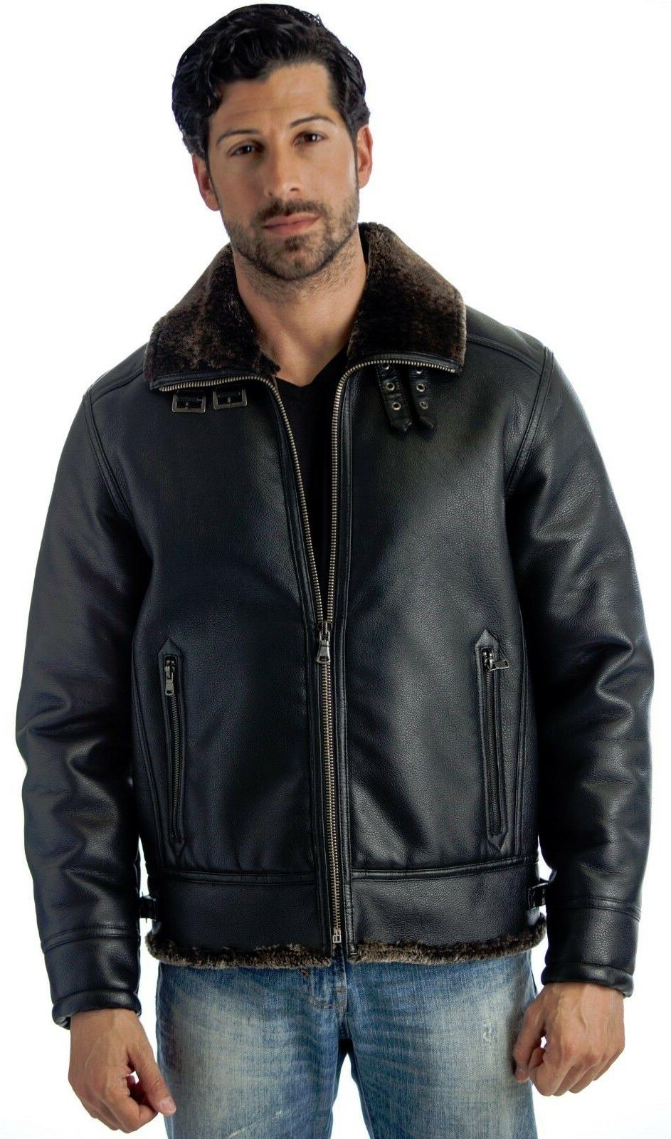 men s b 3 bomber jacket faux