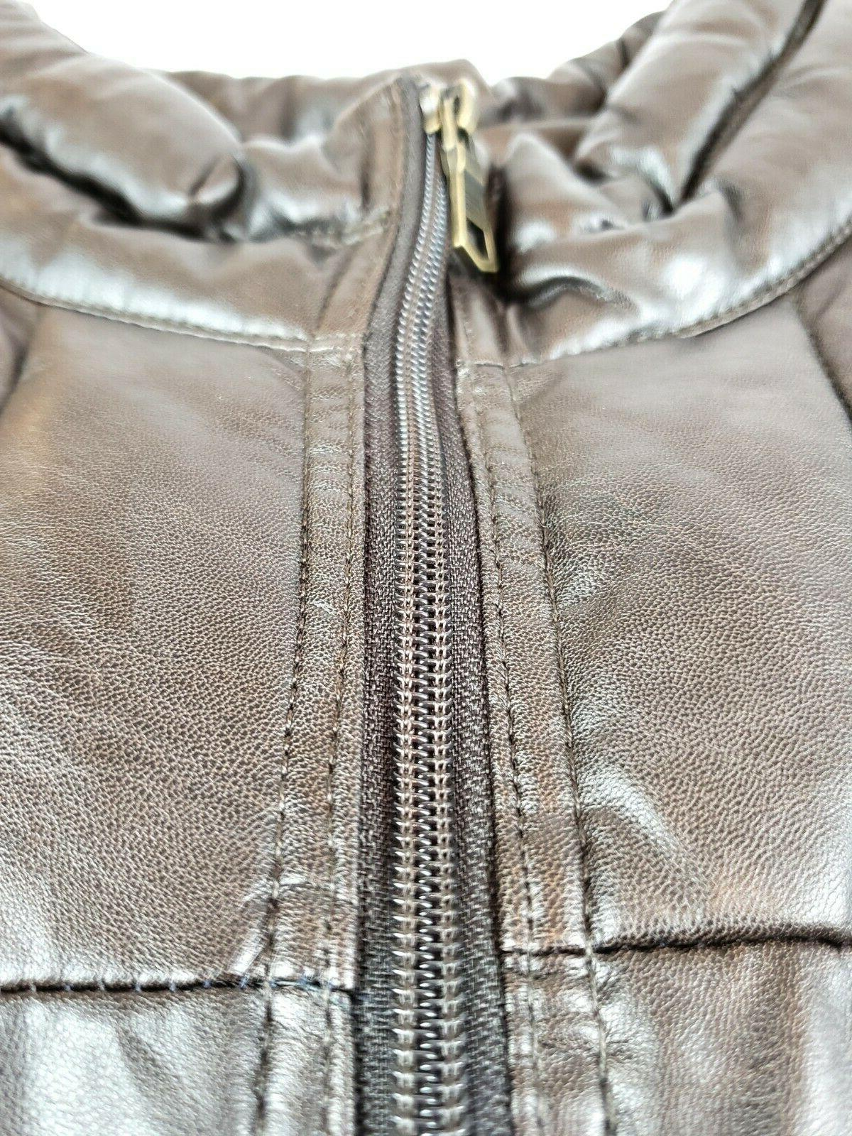Tommy Men's and Tall Faux Leather Puffer Jacket
