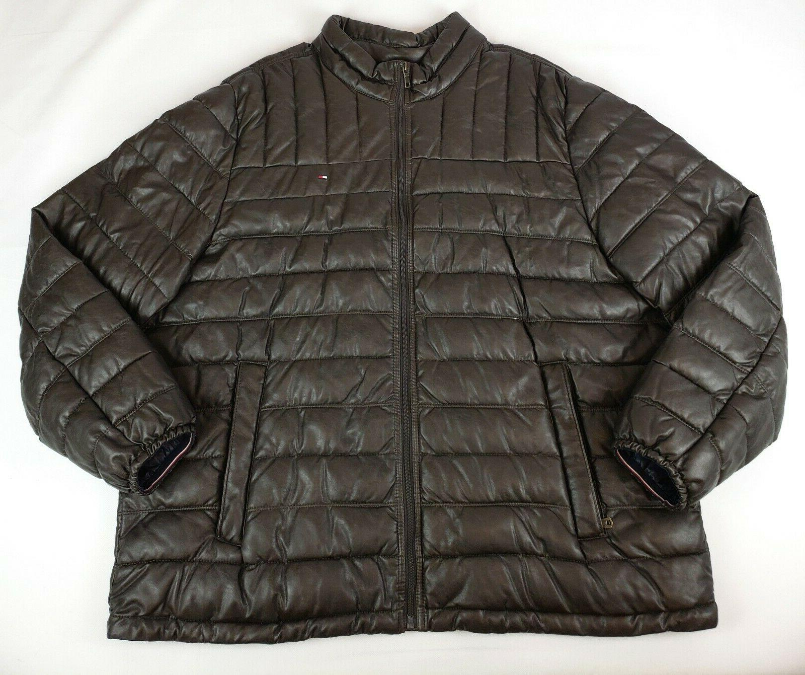Tommy Hilfiger Men's Big and Tall Lightweight Quilted Faux L