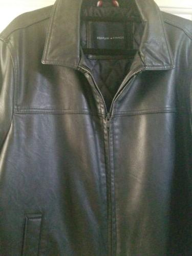 Tommy Black Faux-Leather Size