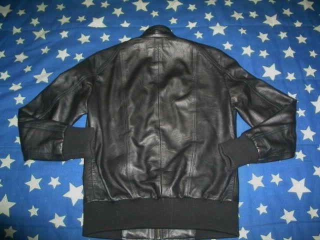 The Black Genuine Lambskin Biker Jacket