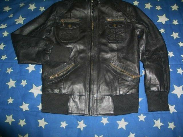 The Black Genuine Lambskin Leather Biker Jacket