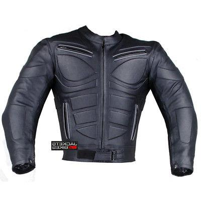 Men's Motorcycle Riding Leather Armor Biker Jacket