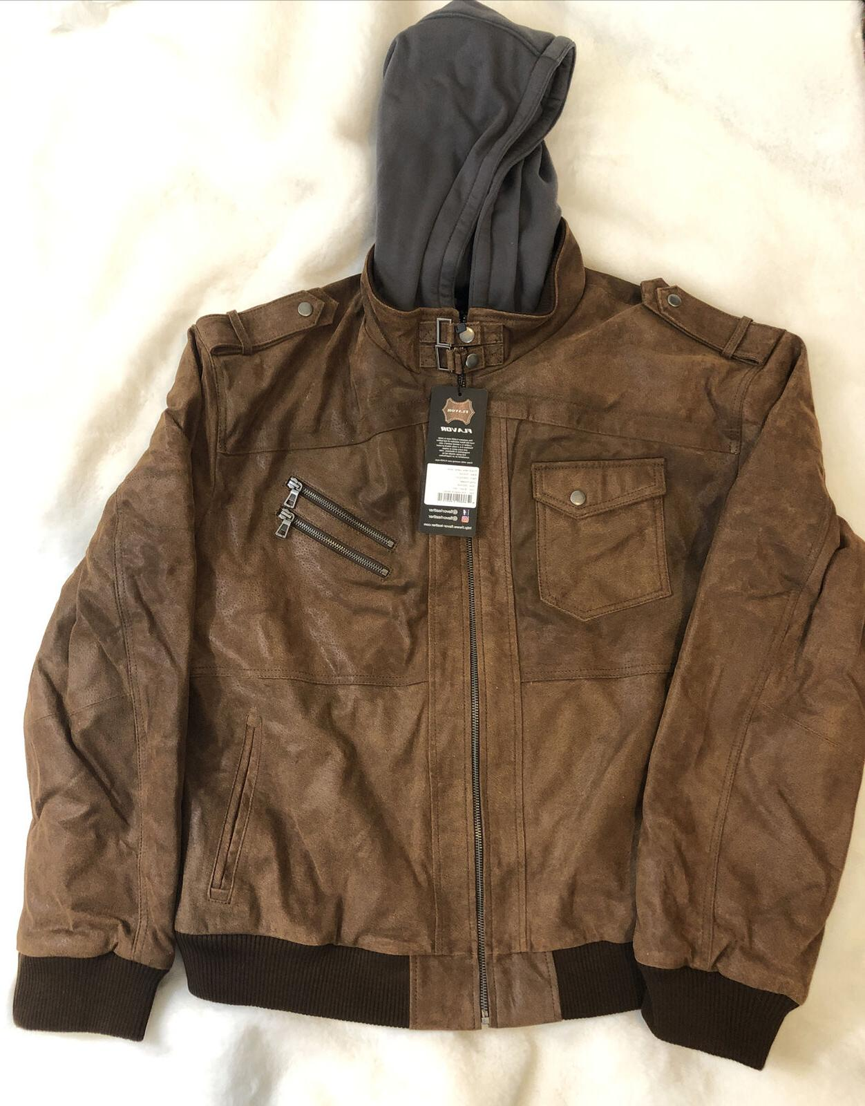 men s brown leather motorcycle jacket