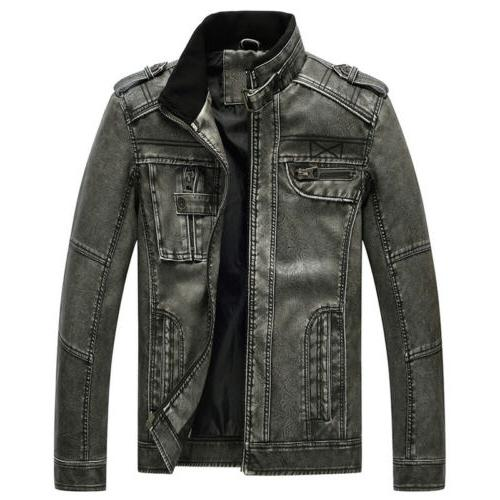 Men's Casual PU Faux Jacket