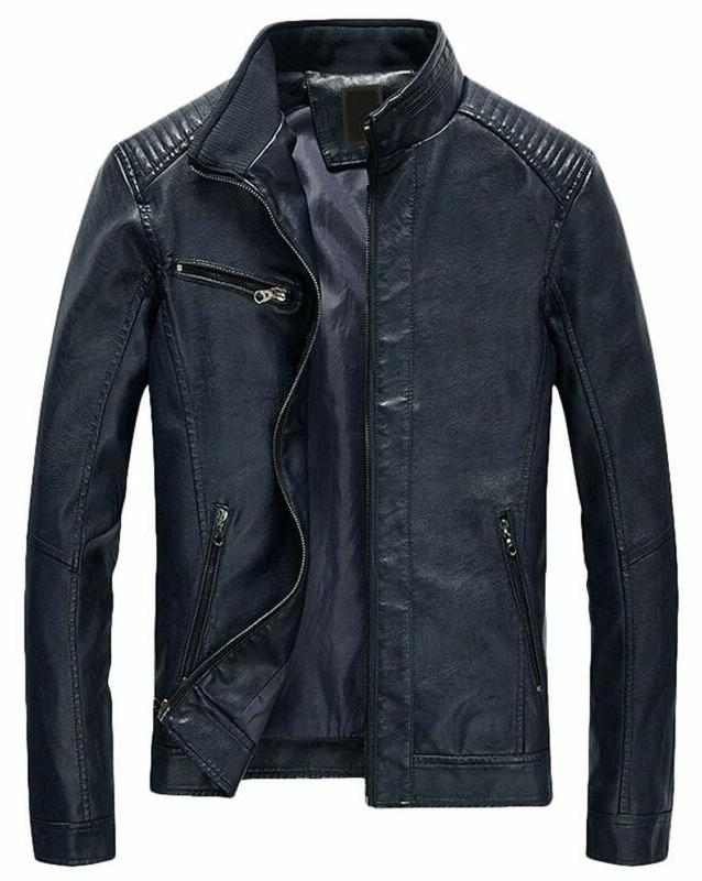 men s casual zip up slim bomber