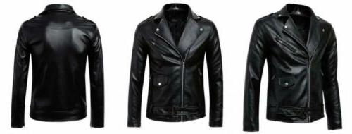men s classic police style faux leather