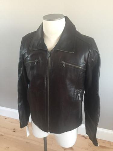 Men's Leather Kenneth Cole NWOT BROWN