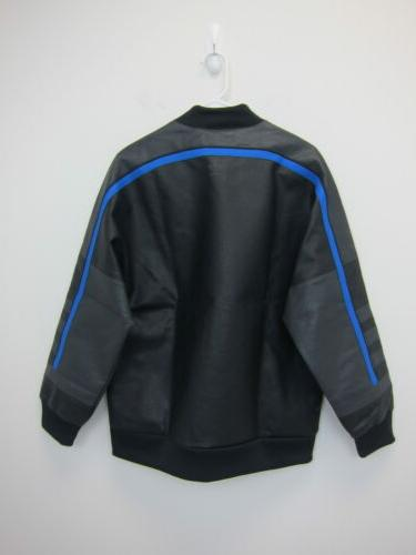 Adidas Men's Faux Tracksuit Jacket Small Black NWT