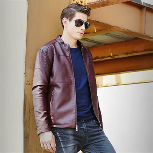 Men's Jacket Slim Fit Collar Casual Outwear Tops New