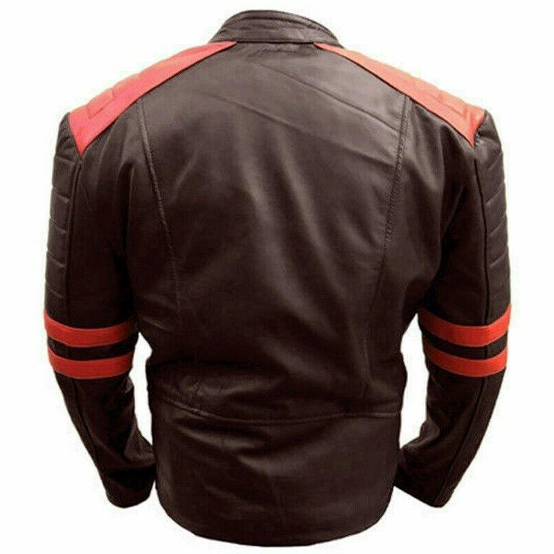 Men's Leather button Coats Bomber Pilot
