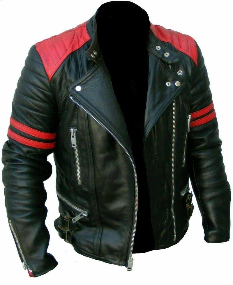 Men's Leather button Bomber Pilot Zipper Jackets