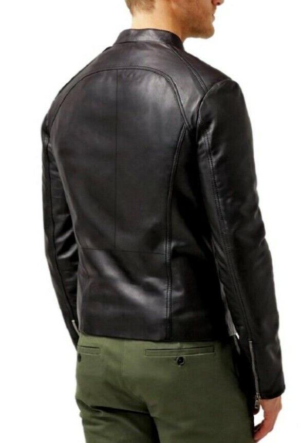 The Leather Factory Maximus Black Leather Biker Jacket
