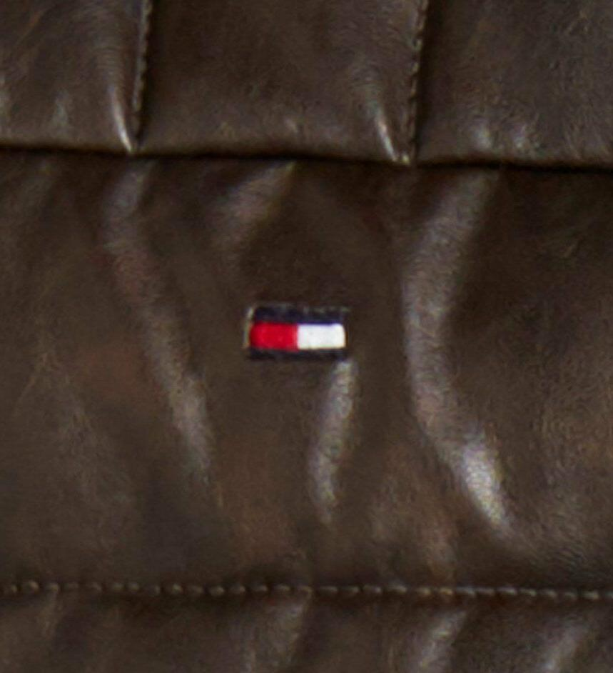 Tommy Hilfiger Faux-Leather Puffer Jacket All sizes
