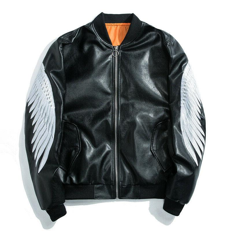 Men's Leather Jackets Coats zip