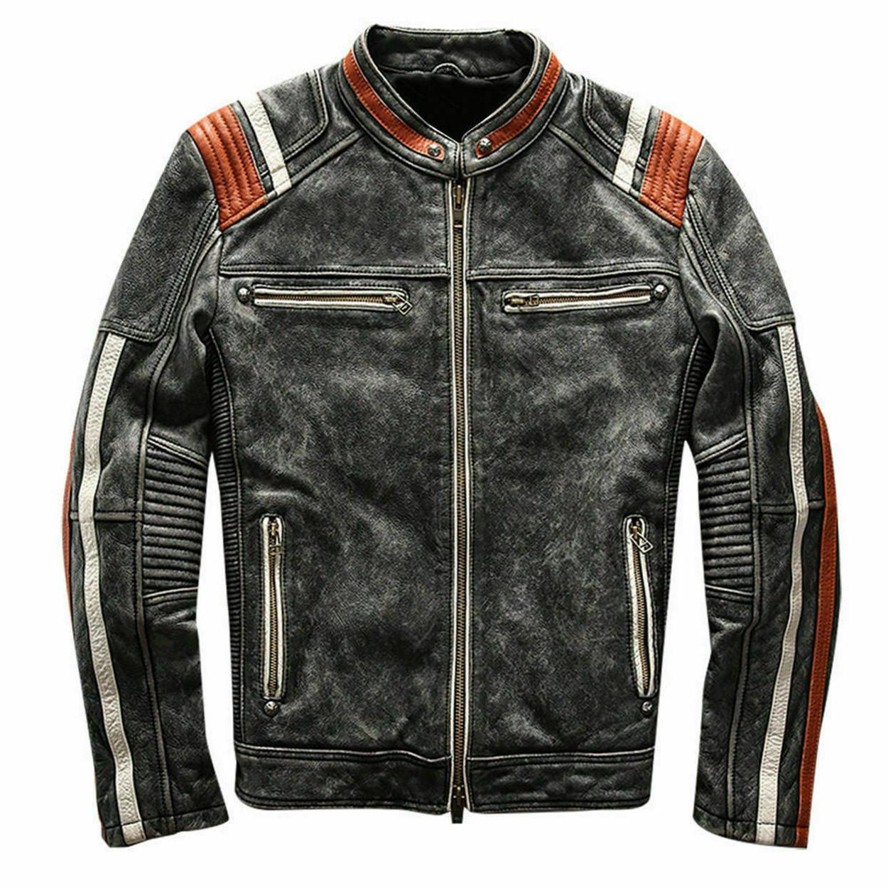 men s vintage motorcycle cafe racer biker
