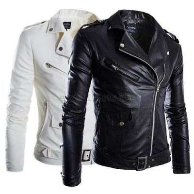 men s winter pu leather warm jacket
