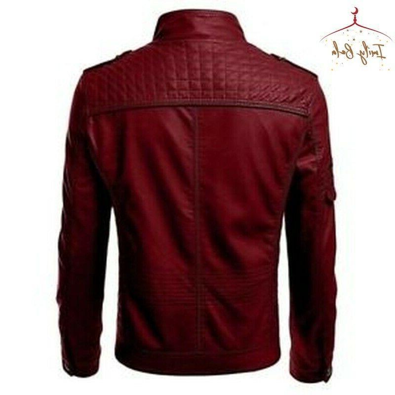 Mens Autumn Warm Coats Street Style Motorcycle Outwear