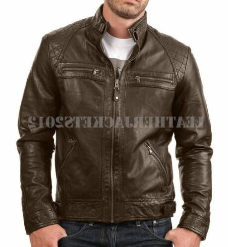 Mens Leather Jacket Genuine Sheep Leather Style