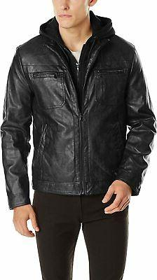 Kenneth Cole Reaction Mens Black Size Small S Faux Leather J