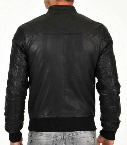Mens Bomber Varsity Sheep skin