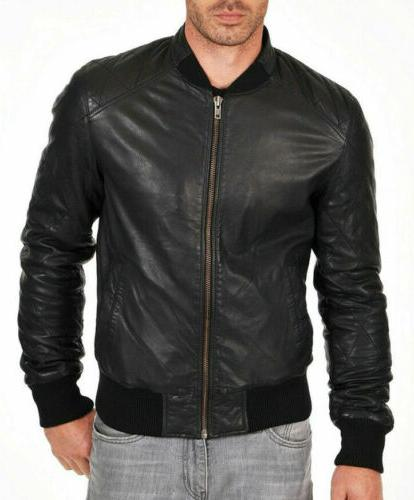 mens bomber leather jacket varsity 100 percent