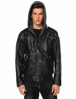 COOFANDY Mens Casual Vantage Faux Leather Jacket Motorcycle