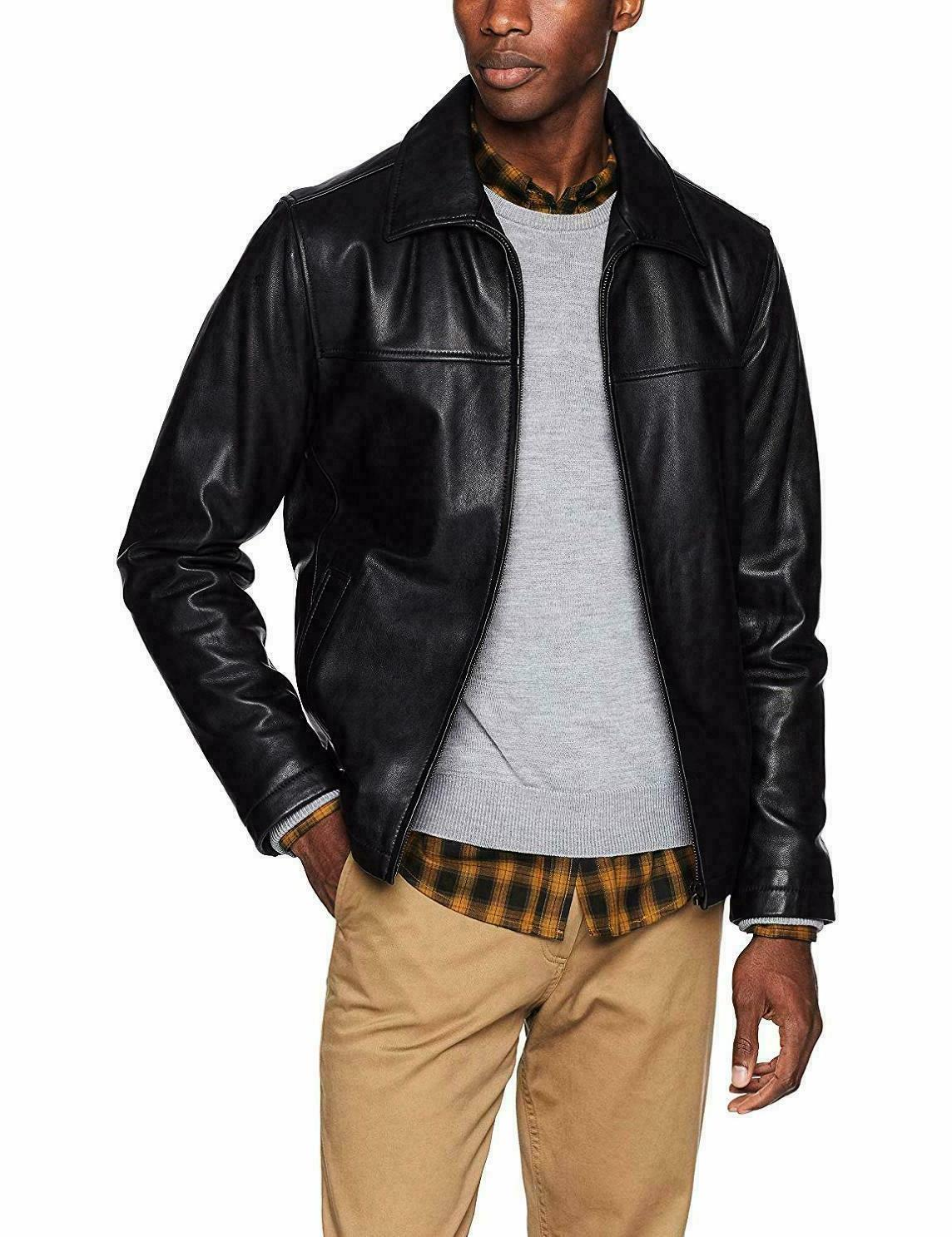 Tommy Hilfiger Leather Jacket With Collar XXL 153A2850
