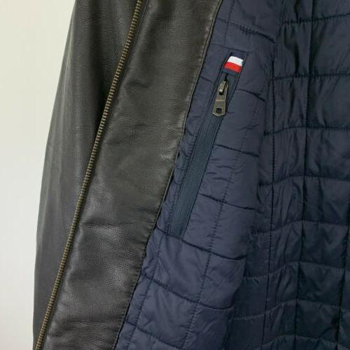 Tommy Faux Leather Bomber 2XL