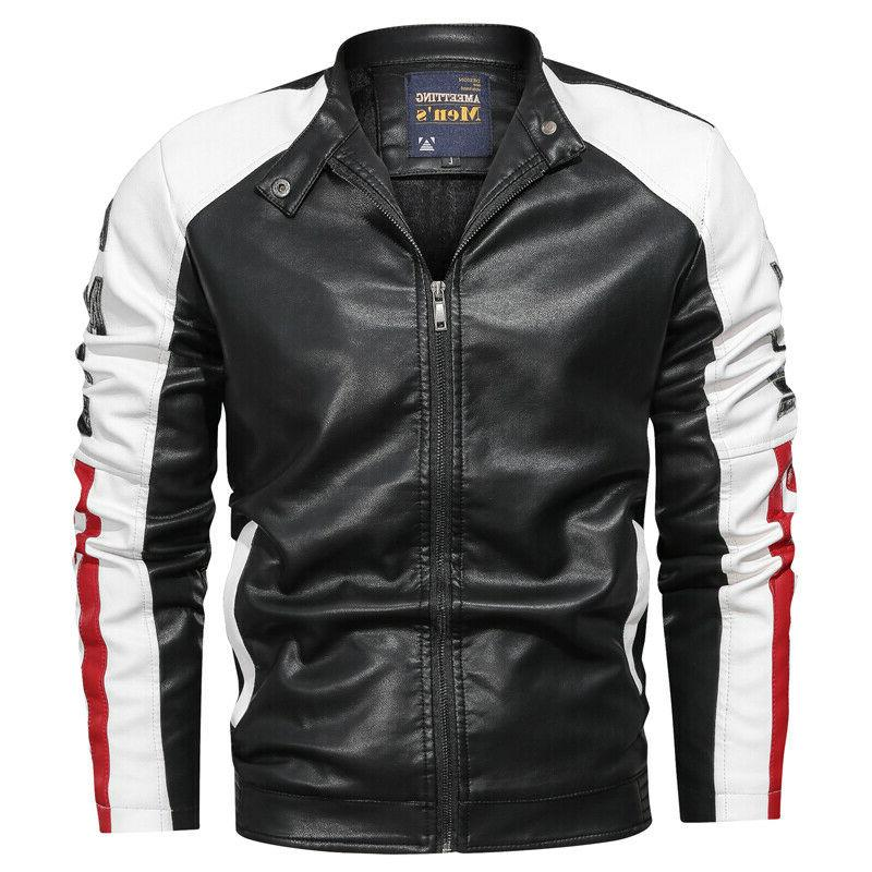 Mens Leather Jackets Coats Multicolor EP261