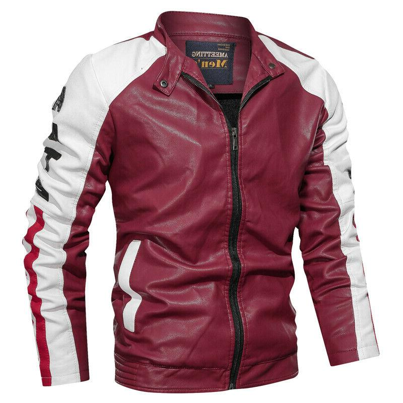 mens faux leather jackets coats luxury classic